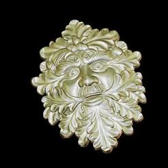 Imprimir en 3D gratis Vivir la cara en un árbol de roble, 3Dprintablefile