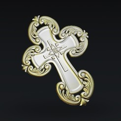 Download free 3D print files art religious cross, 3Dprintablefile
