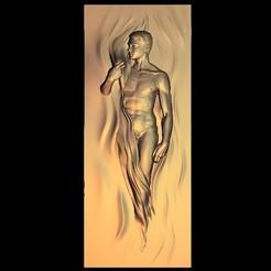 Free 3D printer designs naked man, 3Dprintablefile