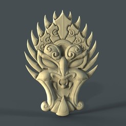 Free STL files mask devil cnc art, 3Dprintablefile