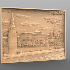 Free 3D printer files Naberezhnaya city cnc art, 3Dprintablefile