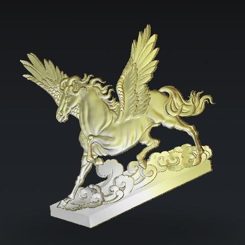 Download free STL files pegasus horse wings, 3Dprintablefile