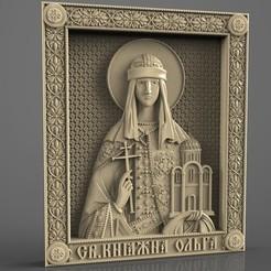 Descargar STL gratis Marco religioso cnc art router santa olga, 3Dprintablefile