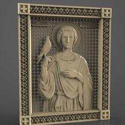 Télécharger fichier impression 3D gratuit Svyatoy muchenik Trifon Var art religieux cnc, 3Dprintablefile