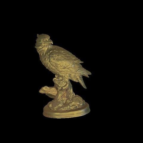 Fichier STL gratuit buste d'aigle, 3Dprintablefile