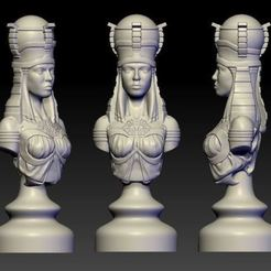 Download free 3D model rook of egypt art bust , 3Dprintablefile
