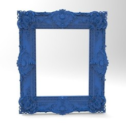 Free 3D print files Really nice medieval frame for art piece, 3Dprintablefile
