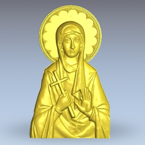 Download free 3D printer files art religious lady, 3Dprintablefile