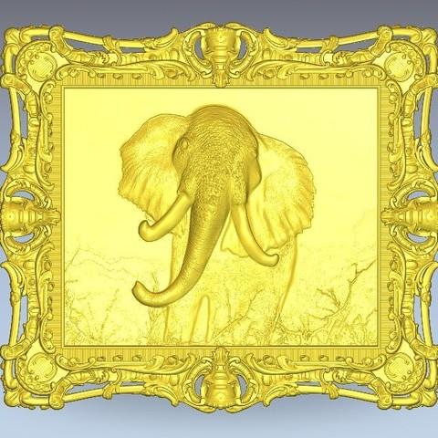 Download free 3D model Elephant frame, 3Dprintablefile
