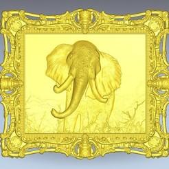 Télécharger STL gratuit Cadre éléphant, 3Dprintablefile