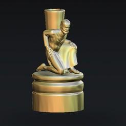Free STL candle holder man, 3Dprintablefile
