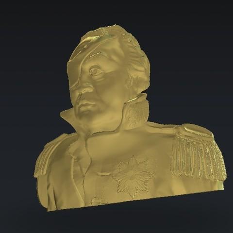 Télécharger plan imprimante 3D gatuit guerrier général d'un œil, 3Dprintablefile