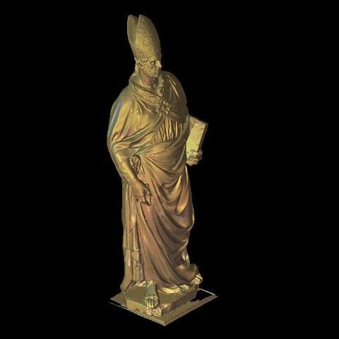 Fichier STL gratuit buste religieux du pape, 3Dprintablefile