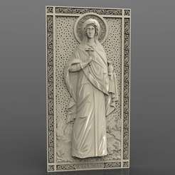 Download free 3D printer designs Religious frame cnc art router anastasia, 3Dprintablefile
