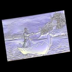 Télécharger objet 3D gratuit Homme sur un bateau, 3Dprintablefile