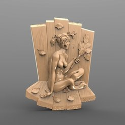 Free 3D printer files naked weird lady cnc, 3Dprintablefile