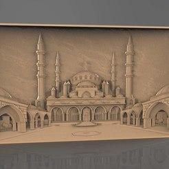 Download free 3D printer designs Taj mahal cnc router frame art, 3Dprintablefile