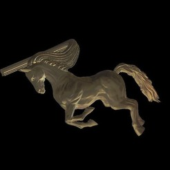 Download free 3D printer designs Horse tie clip, 3Dprintablefile