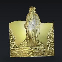 Download free 3D model old man in the desert, 3Dprintablefile