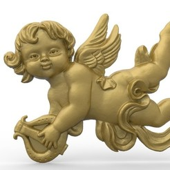 Télécharger modèle 3D gratuit Petit art d'ange, 3Dprintablefile