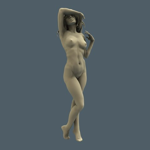 Download free 3D printer templates Beautiful naked girl bust art statue, 3Dprintablefile