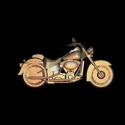 Télécharger plan imprimante 3D gatuit Harley Davidson motocycliste, 3Dprintablefile