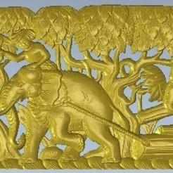 Descargar archivos 3D gratis elefantes trabajando en el arte, 3Dprintablefile