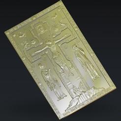 Télécharger STL gratuit Chris Jésus sur la croix, 3Dprintablefile