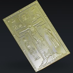 Download free STL Chris jesus on the cross, 3Dprintablefile