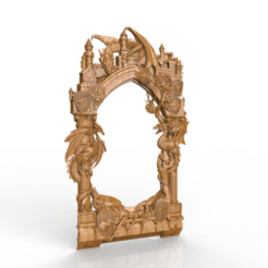 Download free 3D printing files medieval inspired dragon door, 3Dprintablefile