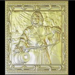 Free 3D print files art portrait renaissance boat captain, 3Dprintablefile