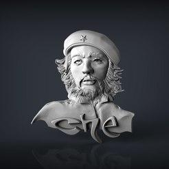 Download free 3D print files el che guevara cuba liberador cnc art , 3Dprintablefile
