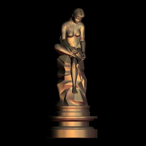 Download free 3D printer files sculpture of a beautiful woman, 3Dprintablefile