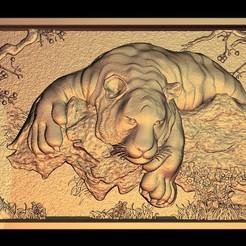 Free STL file big tiger, 3Dprintablefile