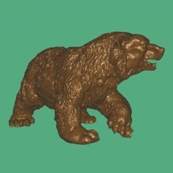 Free 3D printer model Bear walking cnc art, 3Dprintablefile
