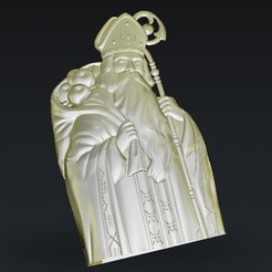 Free 3D model pope religious with apples, 3Dprintablefile
