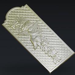 Download free 3D printing templates Little angel frame decoration, 3Dprintablefile