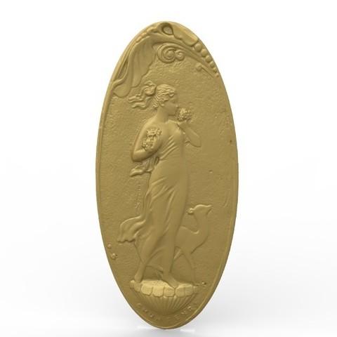 Download free 3D printing models Lady flower art dear, 3Dprintablefile