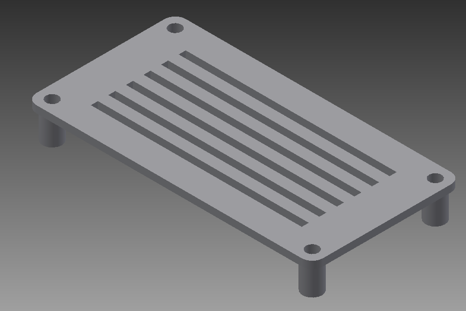 tapa_post_pantalla.png Download free STL file Case from screen for 3018 CNC • Object to 3D print, otter3d