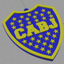 escudo boca 2.png Download STL file Mouth key ring 2C • Object to 3D print, otter3d