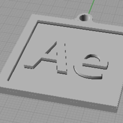 Ae.png Download STL file Adobe Keyrings • 3D printer template, otter3d