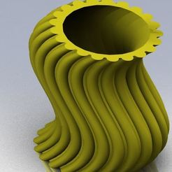 Download free 3D printer files wavy thing vase, bichon205