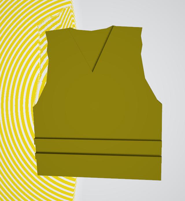 gilet jaune simple.png Télécharger fichier OBJ gratuit gilet jaune • Plan pour impression 3D, hydraliquid