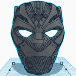 Download 3D printer templates Black Panther Half-Mask, KLNK