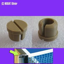 embout_donic.jpg Download STL file Donic compatible table tennis pole tip • 3D printer template, Oliversan