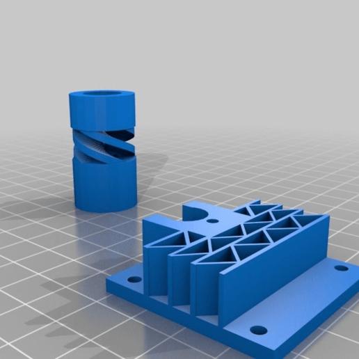 d89658a352e73fdae4b75157483ea47a.png Télécharger fichier STL gratuit Support d'écrou Makerbeam acme et coupleur d'arbre 8 à 12 • Design pour imprimante 3D, kotzas
