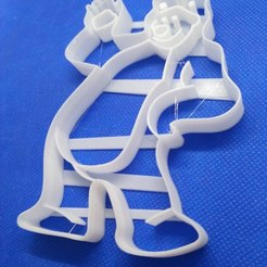 STL file COOKIE CUTTER MASHA AND THE BEAR, 3d4you