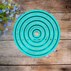 Descargar archivos STL juego de anillos para moldes de galletas 1-5 cm, 3d4you