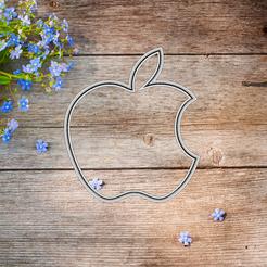 2020-12-20_16-07-17.png Télécharger fichier STL moule à biscuit avec logo de pomme • Objet à imprimer en 3D, 3d4you