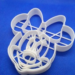 3D print model cutter mini mouse, 3d4you